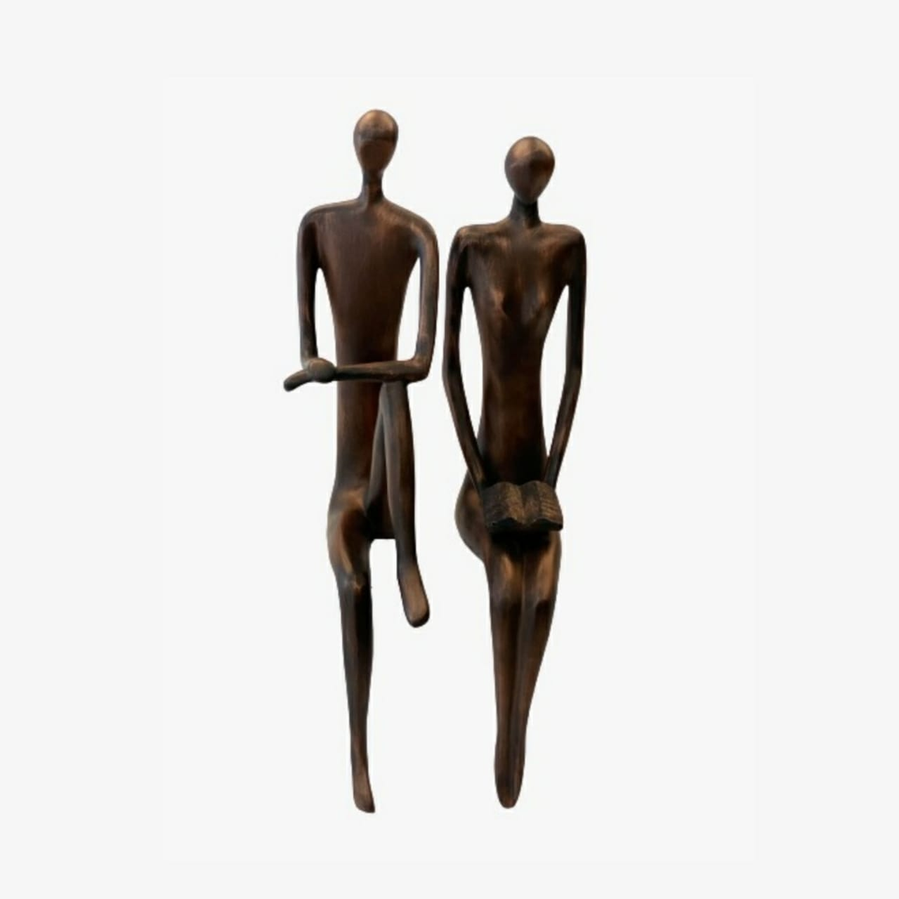 Escultura Casal Sabedoria